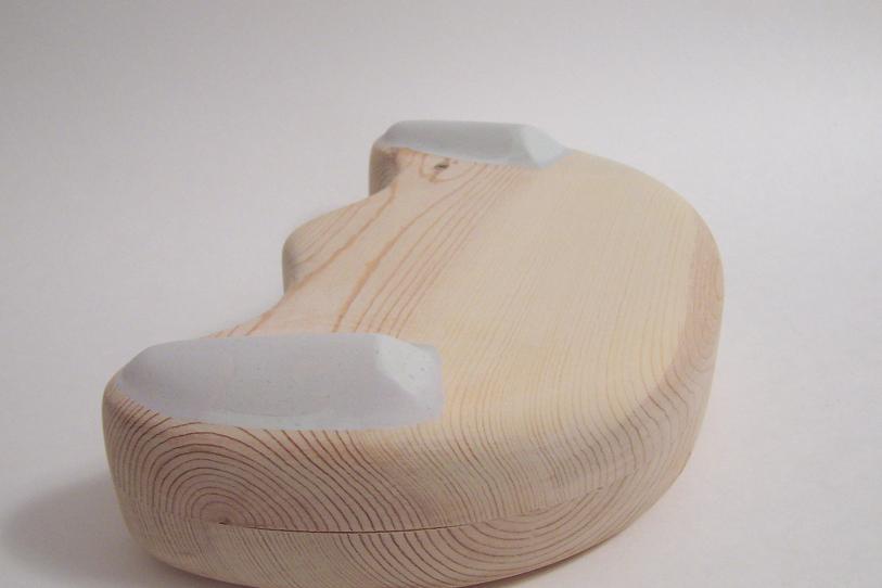 Wood model, back.