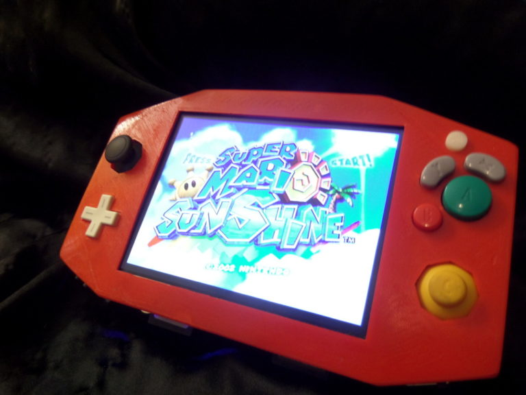 FEATURED: Crimson Cube v2  Gamecube Portable by RedmagnusX