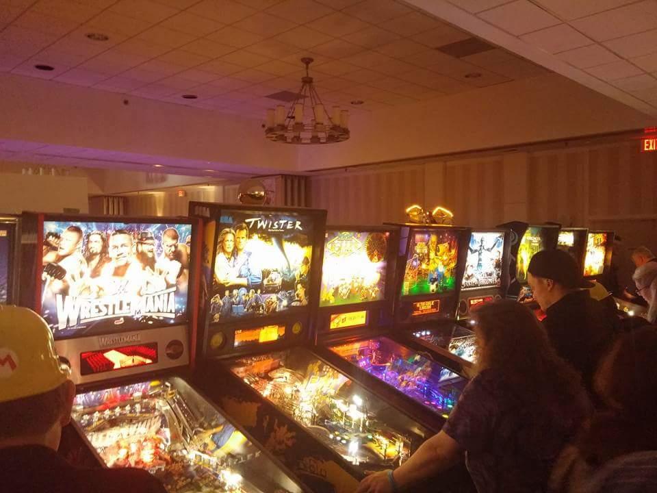 Rows of Pinball Machines.