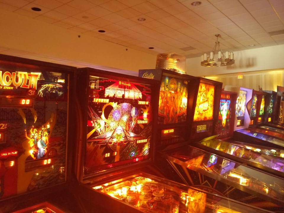 Pinball Machines, all on Free Play.