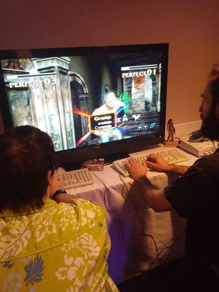 John and Lorne on keyboard Zombie Duty.