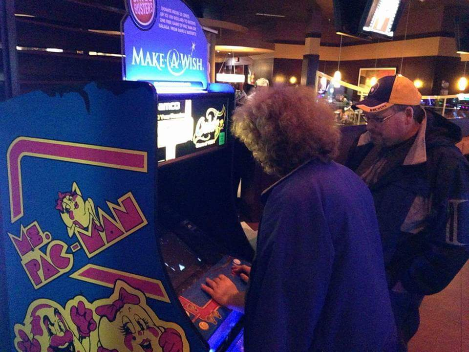 Ms. Pac-man and Mr. Fro-man.