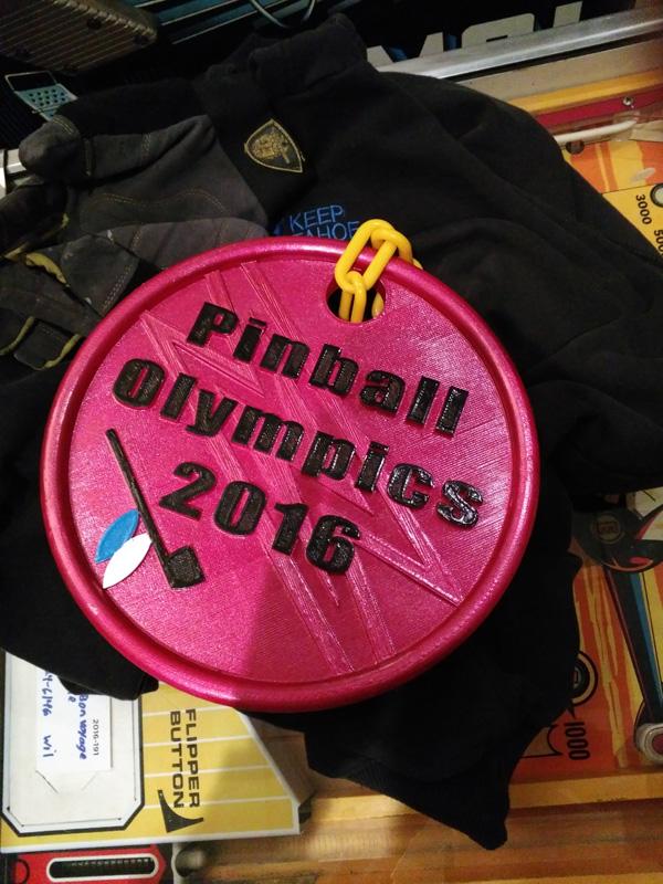 3D Printed Pinball Olympics Medal. Neat!