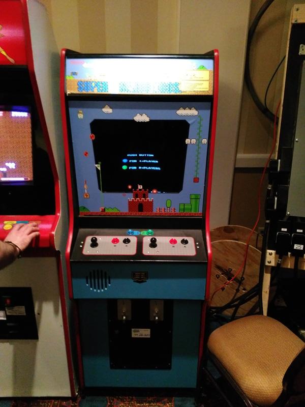 Super Mario Bros Arcade Machine.