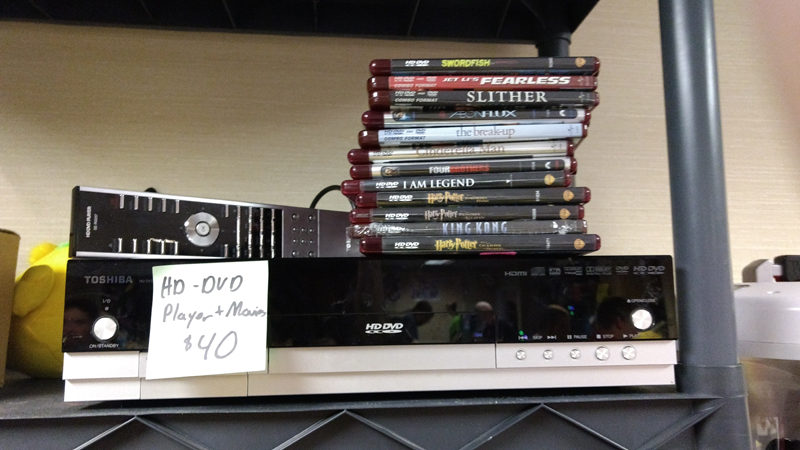 HD-DVD player and Movies. No one cares but Fibbef.