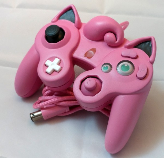 Here's a Jigglypuff Gamecube Controller for some reason